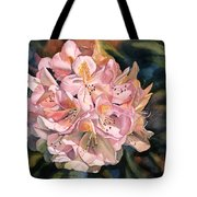 Blushing Pink Rhododendron  Tote Bag by Sharon Freeman