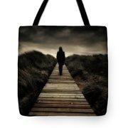 Boardwalk Of Doom Tote Bag by Meirion Matthias
