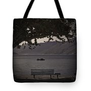 boat on the Lago Maggiore Tote Bag by Joana Kruse