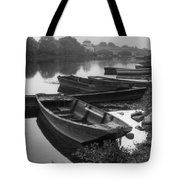 Boats on the Vienne Tote Bag by Debra and Dave Vanderlaan