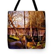 bob white covered bridge Tote Bag by Lisa and Norman  Hall