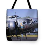 Bomber Sentimental Journey Tote Bag by Garry Gay