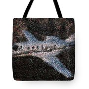 Bottle Cap Cessna Citation Mosaic Tote Bag by Paul Van Scott