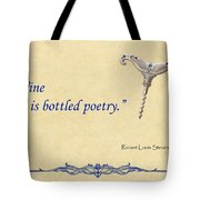 Bottled Poetry Tote Bag by Elaine Plesser
