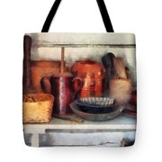 Bowls Basket and Wooden Spoons Tote Bag by Susan Savad