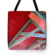 Brick And Wood Truss Tote Bag by Denise Keegan Frawley