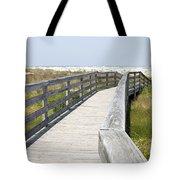 Bridge To The Beach Tote Bag by Glennis Siverson