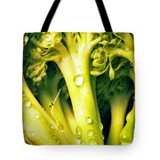 Broccoli Scape I Tote Bag by Nancy Mueller