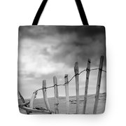Broken Fence In Dune, South Shields Tote Bag by John Short