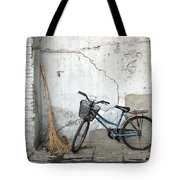 Broom and Bike Tote Bag by Glennis Siverson