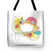 Bubble Speech Tote Bag by Setsiri Silapasuwanchai