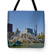 Buckingham Fountain Chicago Tote Bag by Christine Till