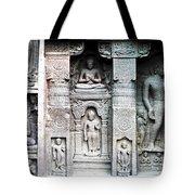 Buddha Carvings At Ajanta Caves Tote Bag by Sumit Mehndiratta