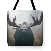 Bull Moose Testing Air For Pheromones Tote Bag by Philippe Henry