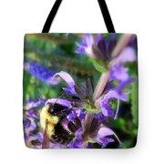 Bumble Bee On Flower Tote Bag by Renee Trenholm