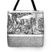 BURNING OF WITCHES, 1555 Tote Bag by Granger