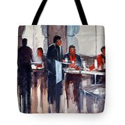 Business Lunch Tote Bag by Ryan Radke