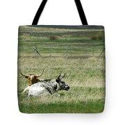 By The Horns Tote Bag by Sara Stevenson