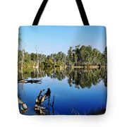 By The River Tote Bag by Kaye Menner