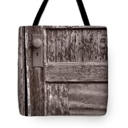 Cabin Door Bw Tote Bag by Steve Gadomski