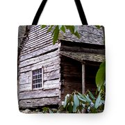 Cades Cove Cabin Tote Bag by Jim Finch
