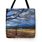 Cades Cove Lane Tote Bag by Debra and Dave Vanderlaan