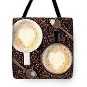 Caffe Latte For Two Tote Bag by Gert Lavsen