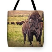 Call Of The Bison Tote Bag by Tamyra Ayles