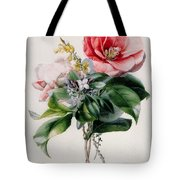Camellia And Broom Tote Bag by Marie-Anne