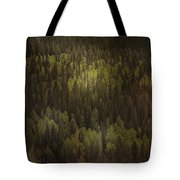 Canadian Forest - The Woods Are Lovely Dark And Deep Tote Bag by Christine Till