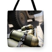 Cans Of Opened 40 Mm Grenades Tote Bag by Stocktrek Images