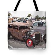 Car Show 1928 Tote Bag by Steve McKinzie