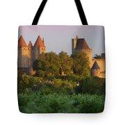 Carcassonne Dawn Tote Bag by Brian Jannsen