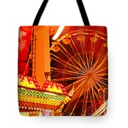 Carnival lights  Tote Bag by Garry Gay