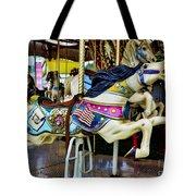 Carousel - Horse - Jumping Tote Bag by Paul Ward