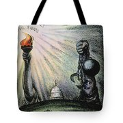 Cartoon: Civil Rights 1953 Tote Bag by Granger