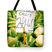 Cauliflower Tote Bag by Tom Gowanlock