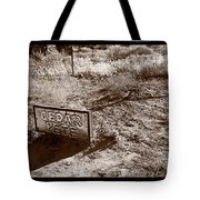 Cedar Pete Gravesite In Grafton Utah Tote Bag by Steve Gadomski