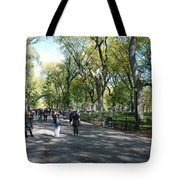 CENTRAL PARK MALL Tote Bag by ROB HANS