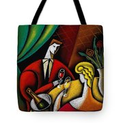 Champagne And Love Tote Bag by Leon Zernitsky