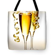 Champagne Glasses Tote Bag by Elena Elisseeva