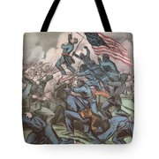 Charge Of The 54th Massachusetts Tote Bag by Photo Researchers