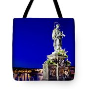 Charles Bridge Statue Of St John Of Nepomuk     Tote Bag by Jon Berghoff