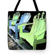 Cheerful Adirondacks Tote Bag by Michelle Wiarda