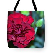 Cherry Red Carnation Tote Bag by Sandi OReilly