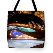 Chicago Cloud Gate Luminous Field Tote Bag by Paul Velgos