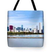 Chicago Panarama Skyline Tote Bag by Paul Velgos