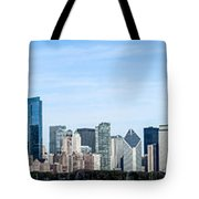 Chicago Panoramic Skyline High Resolution Picture Tote Bag by Paul Velgos