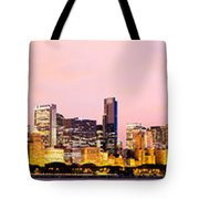 Chicago Skyline Panoramic Tote Bag by Paul Velgos