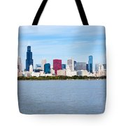 Chicago Skyline Tote Bag by Paul Velgos